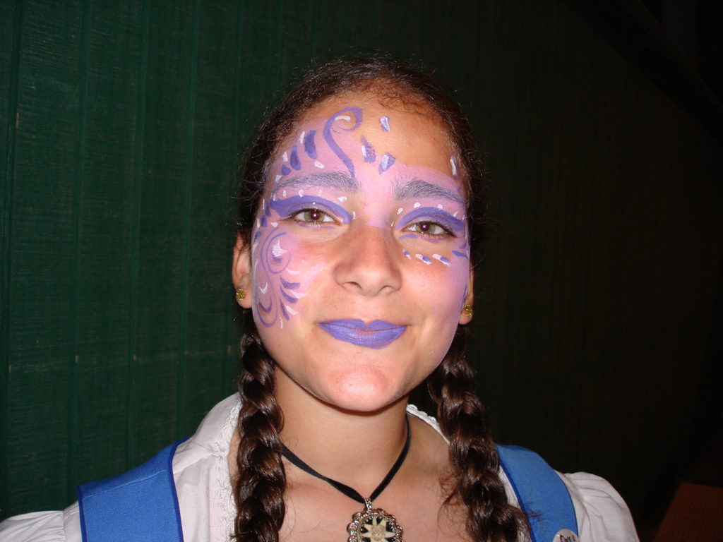 Girl with a painted face