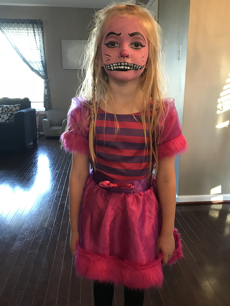 Girl painted as Day of the Dead character